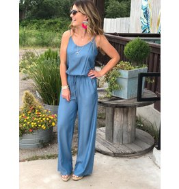 Long Chambray Jumpsuit