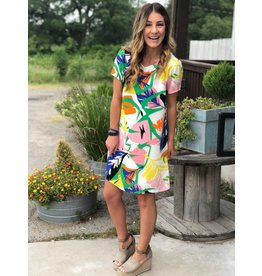 Bright Multi Floral Dress