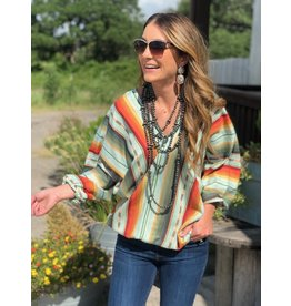 Mint Serape Top