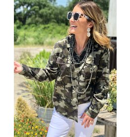 Dear John Mandy Camo Button Down