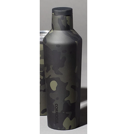 Corkcicle 16oz Canteen- Black Camo