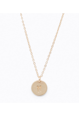 Able Mini Letter Gold Necklace - H