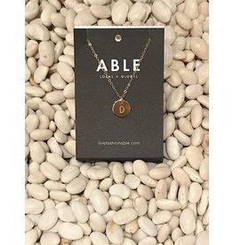 Able Mini Letter Gold Necklace - D