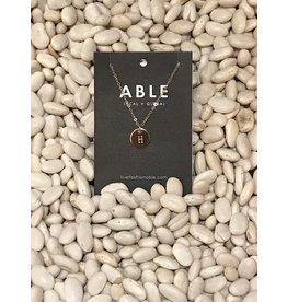 Able Mini Letter Gold Necklace - H