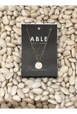 Able Mini Letter Gold Necklace - L