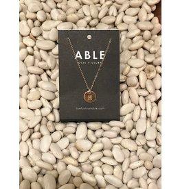 Able Mini Letter Gold Necklace - M