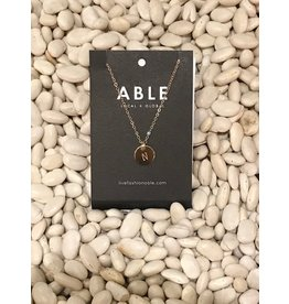 Able Mini Letter Gold Necklace - N