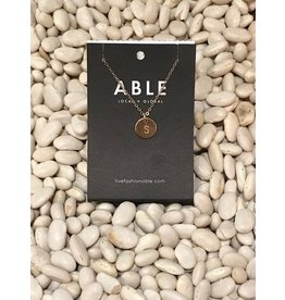 Able Mini Letter Gold Necklace - S