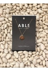 Able Mini Letter Gold Necklace - J
