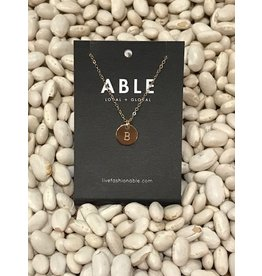 Able Mini Letter Gold Necklace - B