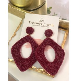 Treasure Jewels Abby Wine Earrings