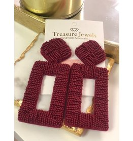 Treasure Jewels Penelope Wine Earrings
