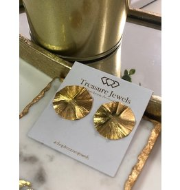 Treasure Jewels Circle Stud gold