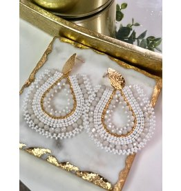 Treasure Jewels Mariana White Earrings