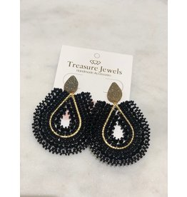 Treasure Jewels Mariana Black Earrings