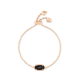 Kendra Scott Elaina Bracelet Rose Gold Black Granite
