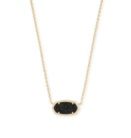 Kendra Scott Elisa Necklace Gold Black Drusy