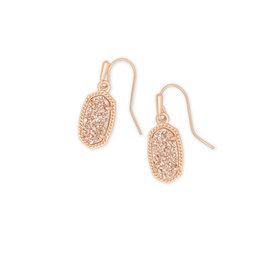 Kendra Scott Lee Earrings Rose Gold Sand Drusy
