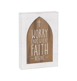Box Sign- Faith Begins