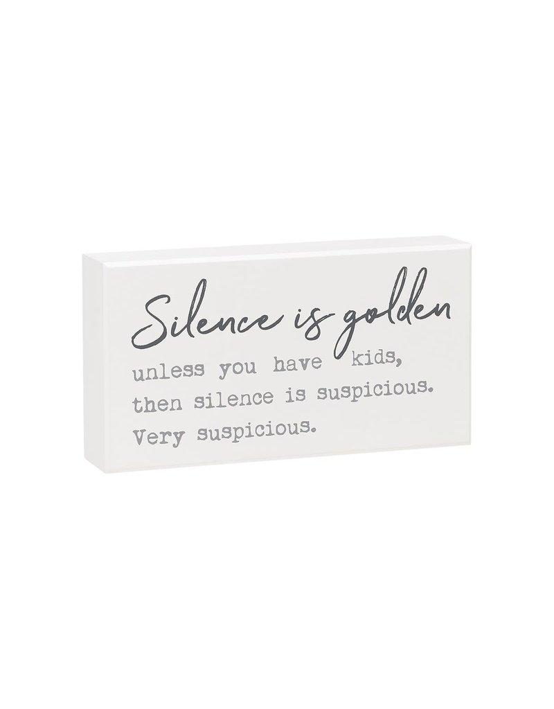 Box Sign- Silence Golden