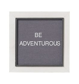 Letterboard Sign- White on Gray