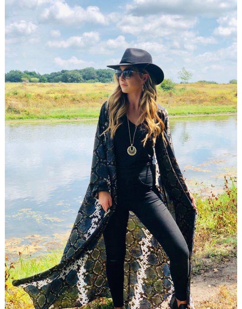 Buddy Love Stoney Everglade Snake Kimono