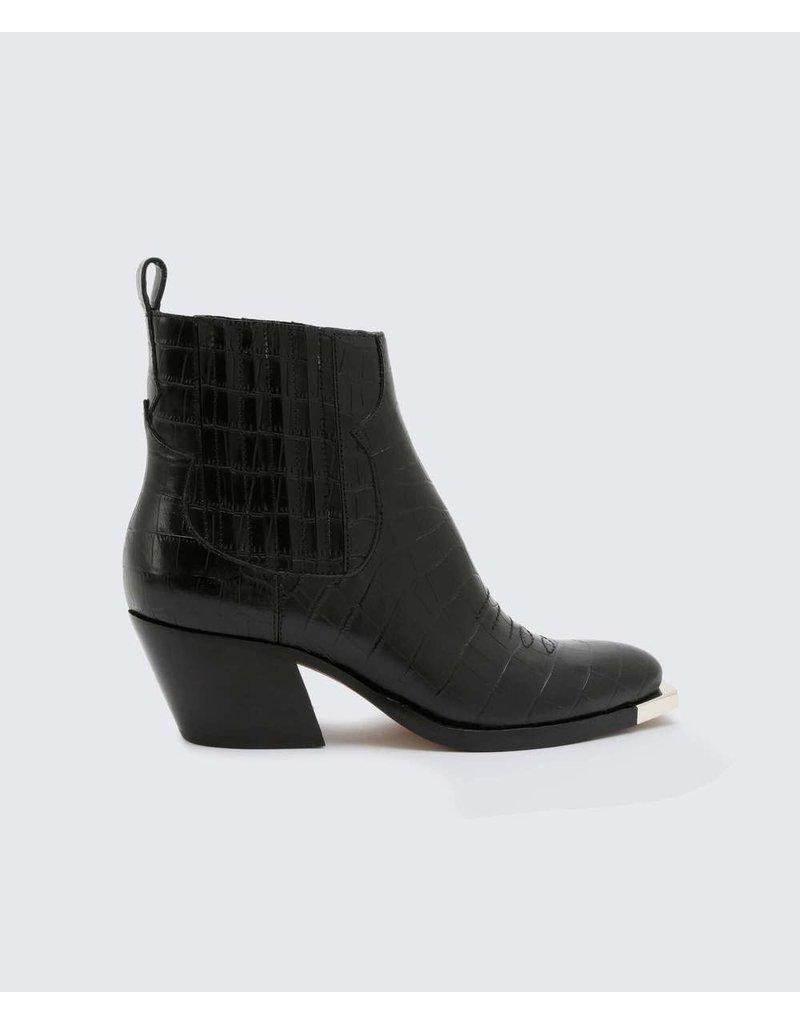 Dolce Vita Abie Black Croco Embossed Leather