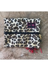 Makeup Junkie Small Savannah- Leopard w/ Red