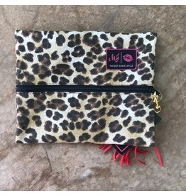 Makeup Junkie Small Savannah- Leopard w/ Red