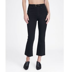 Spanx Cropped Flare Denim Black