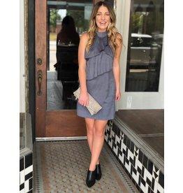 Suede Dress in Stonewash Grey