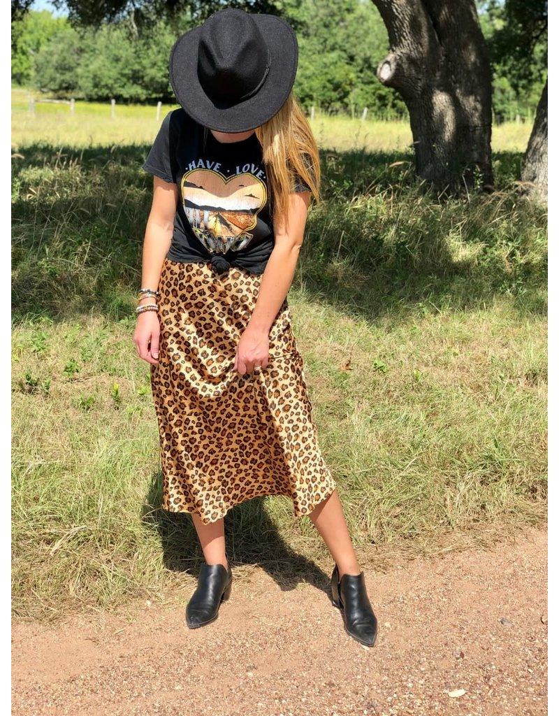 High Waist Leopard Flare Skirt