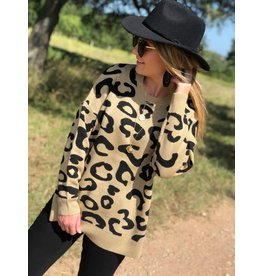Leopard Sweater Tan