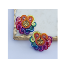 Treasure Jewels Mini Post Rainbow Stud