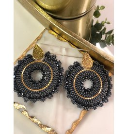 Treasure Jewels Mariana Round Black/Grey Beaded