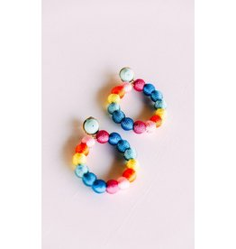 Treasure Jewels Ashley Rainbow Circle Hoops