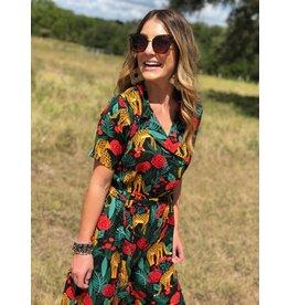Leopard Rose Print Jumpsuit