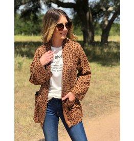 Dear John Brown Leopard Kimono
