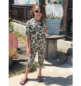 Kids Green Camo Jumpsuit