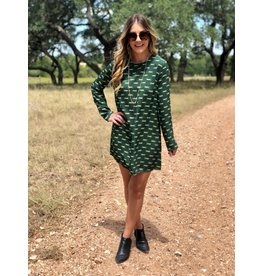 Green Tiger Print Dress