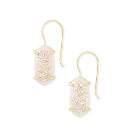 Kendra Scott Harrison Earrings Gold Iridescent Drusy