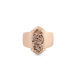 Kendra Scott Rose Gold Drusy Harrison Ring Size 8