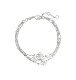 Kendra Scott Rue Multi Strand Bracelet in Silver