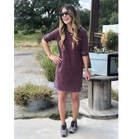 Bordeaux Thermal T-Shirt Dress