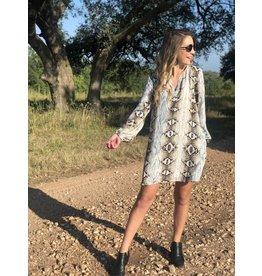 Mocha/Grey Snake Print Dress