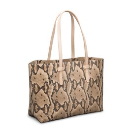 Consuela Breezy East West Tote Margot Crema Snake