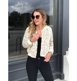 Buddy Love Snow Leopard Faux Fur Jacket