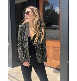 Tweed Gold Black Jacket