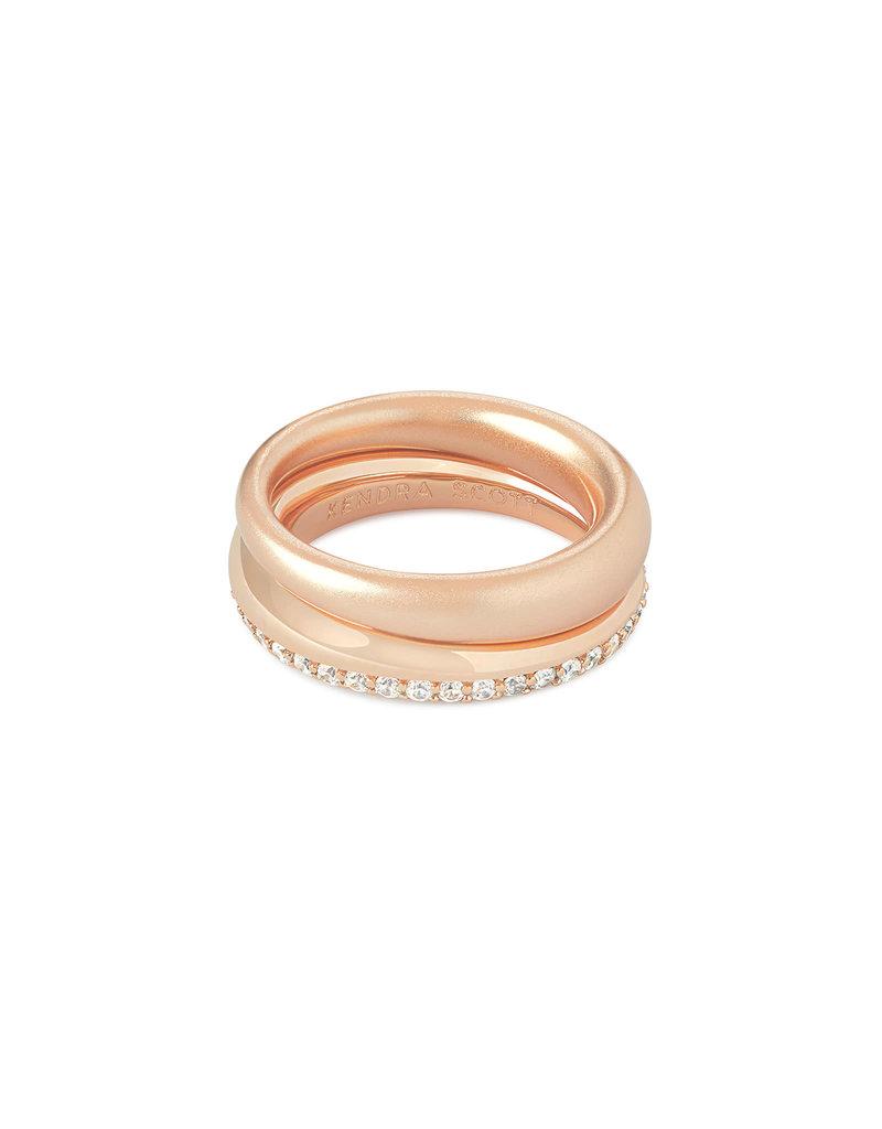 Kendra Scott Colette Ring Set in Rose Gold