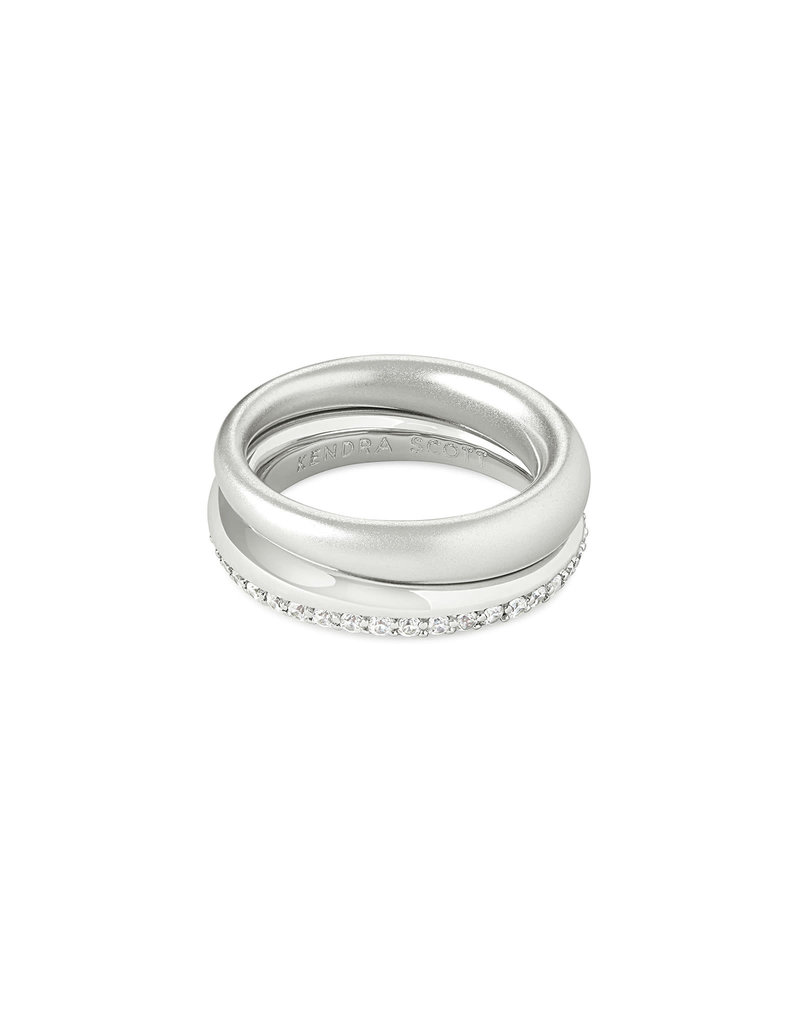 Kendra Scott Colette Ring Set in Silver